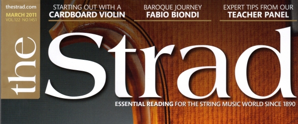 Cover of Strad Magazine March 2011