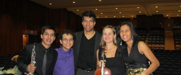 Nestor, Samuel, me, Ana and Elizabeth.