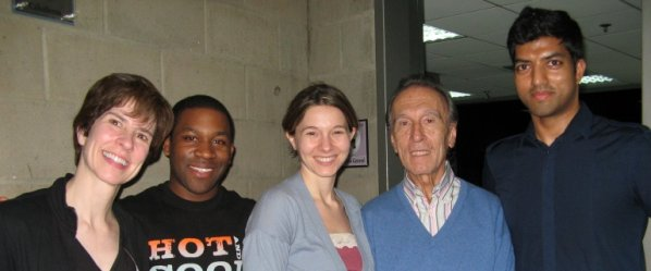 From L to R: Lorrie H, Dantes R, Katie W, Maestro Abbado, and me.