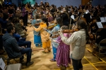 The children of Kahnawake with UNC Charlotte musicians